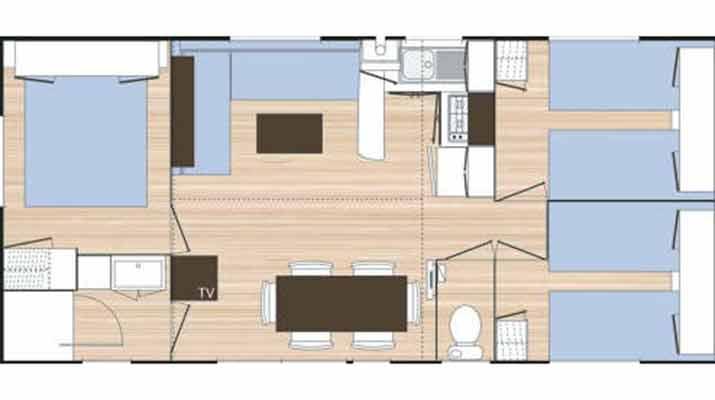 Plan mobil home Ohara à Royan